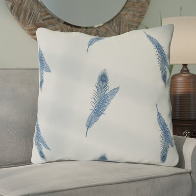 Arlo Feather Floral Throw Pillow Size: 26 H x 26 W, Color: Blue