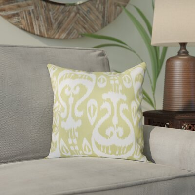Bridgehampton Ikat Geometric Print Throw Pillow Size: 20 H x 20 W, Color: Green