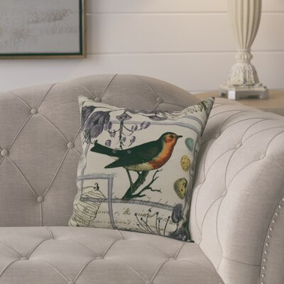 Aruba Sweet Tweets Throw Pillow Size: 16 H x 16 W, Color: Lavender
