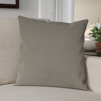 Nagda Wicker Woven Decorative Pillow Cover Color: Grey