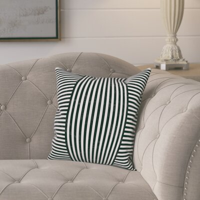 Castelvecchio Stripes Throw Pillow Color: Black, Size: 16 x 16, Type: Pillow Cover