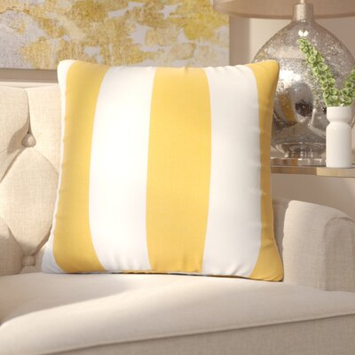 Mufeeda Indoor/Outdoor Throw Pillow Fabric: Yellow, Size: Large