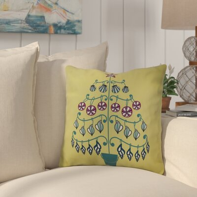 Huong Decorative Holiday Geometric Print Square Throw Pillow Size: 16 H x 16 W, Color: Light Green