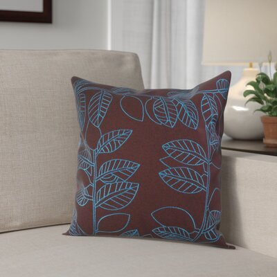 Bordoni-Cowley Square Decorative 100% Cotton Pillow Cover Color: Cocoa