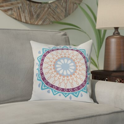 Bridgehampton Geometric Print Square Throw Pillow Size: 18 H x 18 W, Color: Turquoise