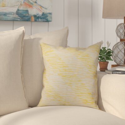 Boubacar Marled Knit Stripe Geometric Print Outdoor Throw Pillow Size: 18 H x 18 W, Color: Yellow