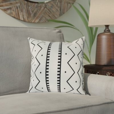 Arlo Mudcloth Geometric Outdoor Throw Pillow Size: 16 H x 16 W, Color: Cream