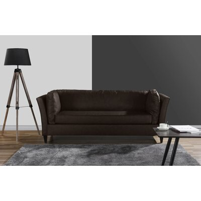 Merrow Modern Sofa Upholstery: Brown