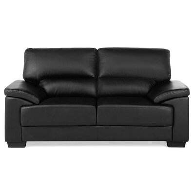 Vogar 2 Seater Loveseat Upholstery: Black