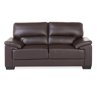 Vogar 2 Seater Loveseat Upholstery: Brown