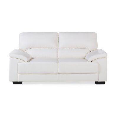 Vogar 2 Seater Loveseat Upholstery: Cream