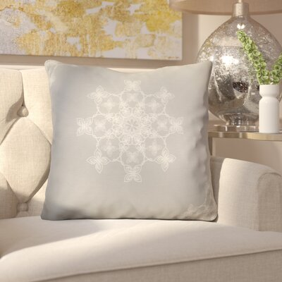Decorative Holiday Geometric Print Throw Pillow Size: 18 H x 18 W, Color: Gray