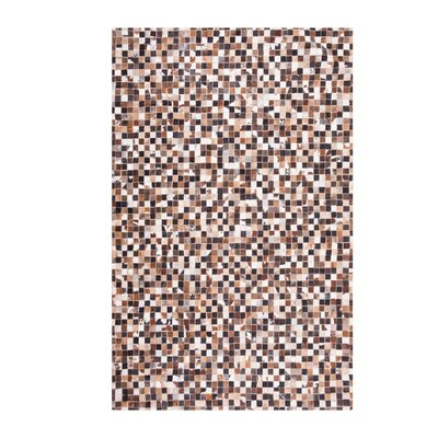 Handwoven Cowhide Brown/Beige Rug