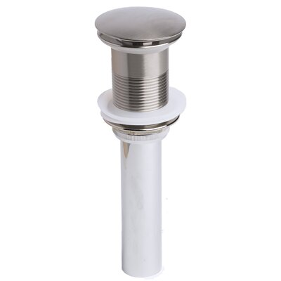 Metal Pop-Up Bathroom Sink Drain Finish: Brushed Nickel