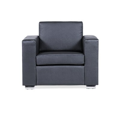 Club Chair Upholstery: Black