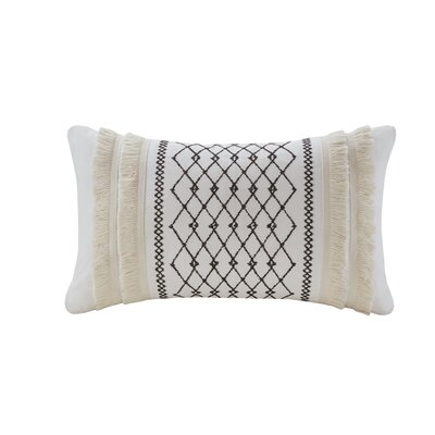 Kulick Embroidered Oblong Cotton Throw Pillow