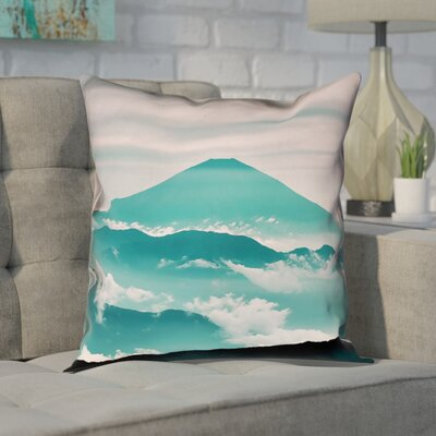 Enciso Fuji Cotton Pillow Cover Size: 14 H x 14 W, Color: Green