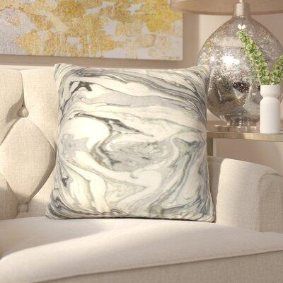 Analia Cotton Throw Pillow Color: Metal