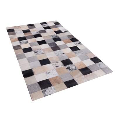 Hand Tufted Cowhide Brown Rug Rug Size: Rectangle 80 x 150cm