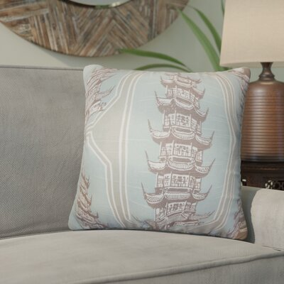 Wapwanga Cotton Throw Pillow Color: Blue