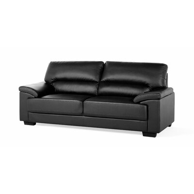 3 Seater Big Sofa Upholstery: Black