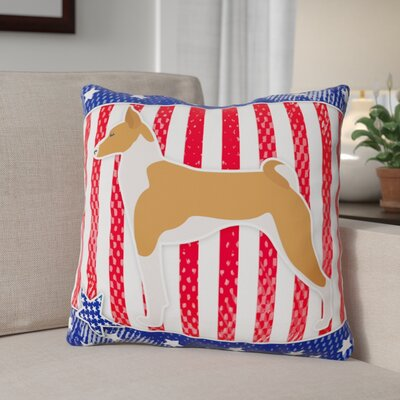 Patriotic Neutral Indoor/Outdoor Throw Pillow Size: 18 H x 18 W x 3 D