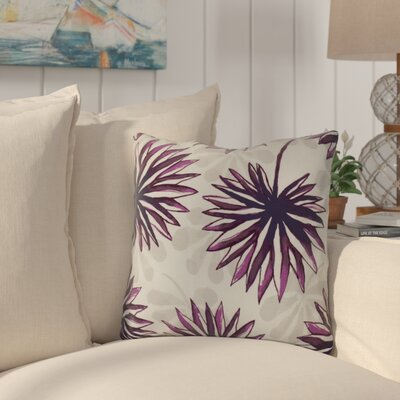 Costigan Spike and Stamp Outdoor Throw Pillow Size: 18 H x 18 W x 3 D, Color: Purple