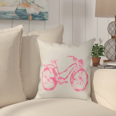 Golden Beach Life Cycle Outdoor Throw Pillow Size: 18 H x 18 W, Color: Pink