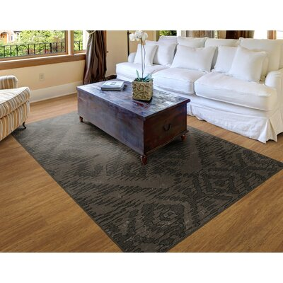 Distressed Tribal Brown Area Rug Rug Size: 7'6
