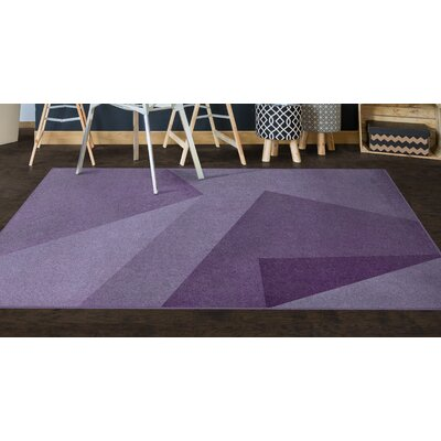 Purple Area Rug Rug Size: 34 x 5