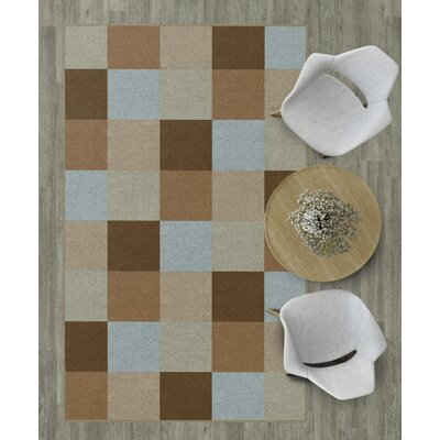 Steinberger Blocks Brown Area Rug Rug Size: 34 x 5