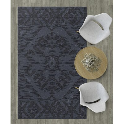 Distressed Tribal Charcoal Area Rug Rug Size: 3'4