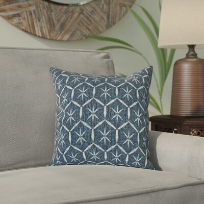 Arlo Tufted Geometric Throw Pillow Size: 18 H x 18 W, Color: Navy Blue