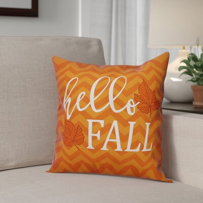 Hello Fall Chevron Throw Pillow Pillow Use: Indoor