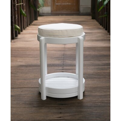 Stonebridge End Table Color: White