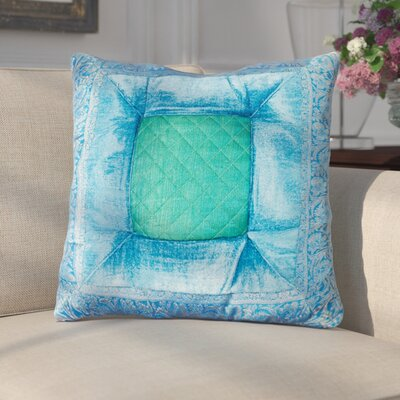 Encina Silk Throw Pillow Color: Turquoise