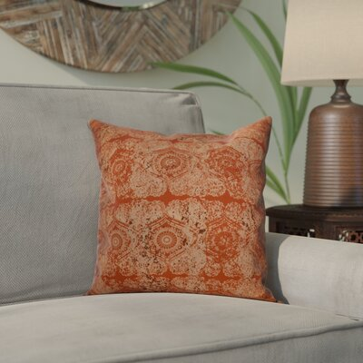 Clarence Geometric Throw Pillow Size: 16 H x 16 W x 2 D, Color: Orange / Rust