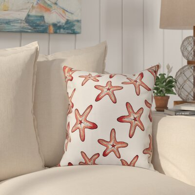 Cedarville Soft Starfish Geometric Print Throw Pillow Size: 16 H x 16 W, Color: Coral