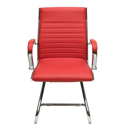 Kingsview Mid-Back Executive Guest Chair Color: Red