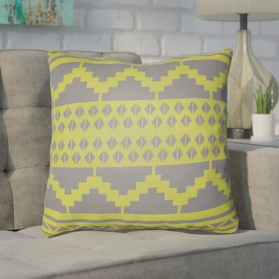 Adamson Geometric Throw Pillow Size: 20 H x 20 W x 3.5 D, Color: Lime