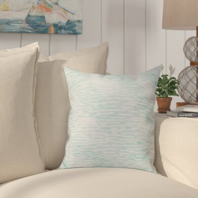 Cedarville Marled Knit Stripe Geometric Print Throw Pillow Size: 16 H x 16 W, Color: Aqua