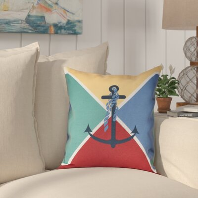 Hancock Anchor Flag Geometric Print Throw Pillow Size: 16 H x 16 W, Color: Yellow