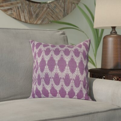 Arlo Throw Pillow Size: 26 H x 26 W, Color: Purple