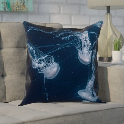 Nathaniel Jellyfish Cotton Pillow Cover Size: 14 x 14