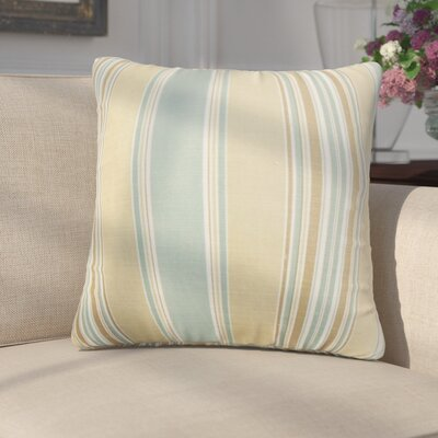 Emelie Stripes Cotton Throw Pillow Color: Tan
