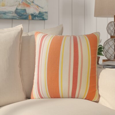 Jolana Striped Down Filled Throw Pillow Size: 18 x 18, Color: Sunset