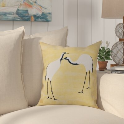 Boubacar Stilts Animal Print Outdoor Throw Pillow Size: 20 H x 20 W, Color: Yellow