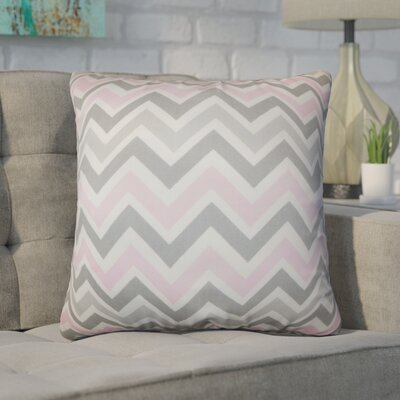 Bouck Zigzag Cotton Throw Pillow Color: Light Gray