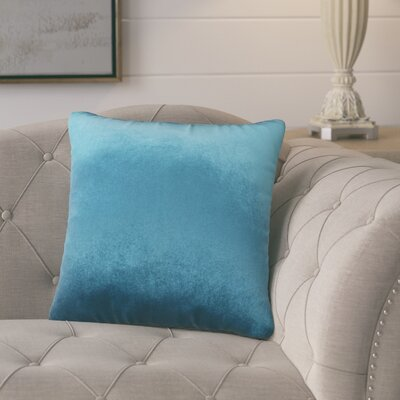 Pittenger Soft Luxury Velvet Throw Pillow Color: Teal