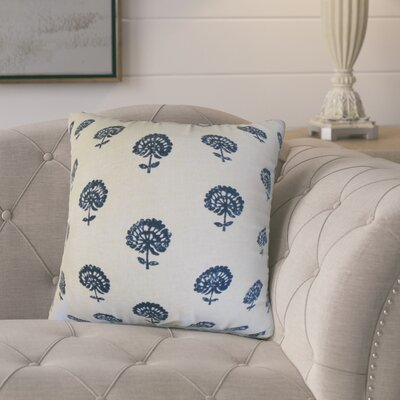 Benito Cotton Throw Pillow Color: Indigo